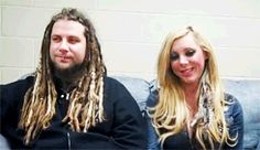 Chris Howorth and Maria Brink doing a interview