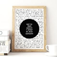 And In That Moment.. http://www.amazon.com/dp/B016DNCSY8   inspirational quote word art print motivational poster black white motivationmonday minimalist shabby chic fashion inspo typographic wall decor