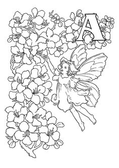 1000 images about kleurplaten letters on pinterest flower fairies alphabet and coloring for