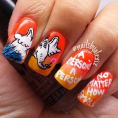 Horton Hears a Who | 15 Works Of Nail Art Inspired By Your Favorite Children's Books
