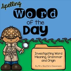 Grab this newly updated Spelling/Vocabulary Word of the Day Worksheet FREEBIE from Mrs. Beattie's Classroom! Have your students focus on vocabulary and spelling development, explore parts of speech, prefixes, suffixes, syllables and word meanings daily.