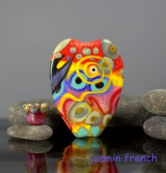 lampwork bead by jasmin french