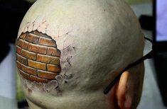 wall 3d tattoo on head Tattoos 3d, Sleeve Tattoos, Fiji Tattoo, Crazy Optical Illusions, Tattoo Foto, Tattoo Maori, Norse Tattoo, Samoan Tattoo, Polynesian Tattoos
