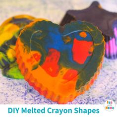 Have broken pieces of crayon laying around the house? Don't throw it out! Whip up some of your own DIY crayons by making some fun melted crayon shapes! Diy Crayons, Melting Crayons, Learning Shapes, Early Math, Preschool Age, Some Fun, Activities For Kids, How To Make, House