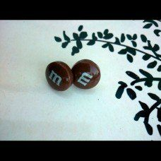 M&M Earrings made by Fairypants in - Made In Uk, Jewelry Making, Jewellery, Earrings, How To Make, Jewelery, Stud Earrings, Jewelry Shop, Ear Rings