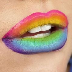 Happy Pride month! Show us all your cute rainbow looks! @emilyglamour created this amazing lip using #sugarpill ElektroCute sparkling neon pigments over #mufe Flash palette.