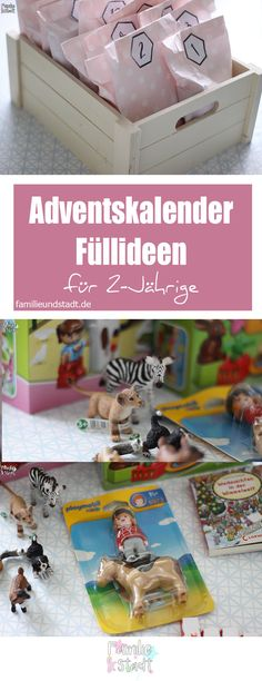 rosa Adventskalender fü 2-Jährige, DIY und Füllideen Adventskalender für Kinder