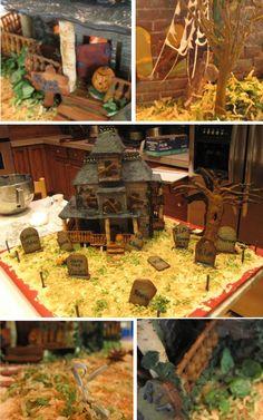 Halloween Village Display / DIY Haunted House