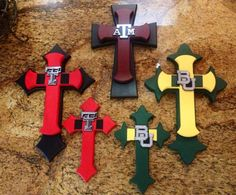 College Crosses by Jeanette Floyd for Sass of Ash Designs