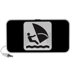 Wind Surfing Symbol iPod Speakers