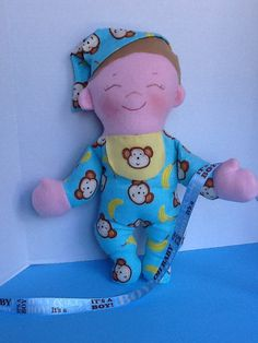 "Cloth Rag Doll PDF Pattern Baby Brother   Easy Sewing Pattern for 15 "" Cloth Doll by Peekaboo Porch"
