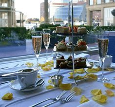 5 Places to Enjoy Afternoon Tea in Boston (Pictured-Afternoon Tea at Boston Harbor Hotel © Rowe's Wharf Sea Grille) via Virgin Atlantic Blog