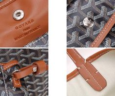 #goyard# Goyard St Louis Tote, Goyard Bag, Black And Brown, Dust Bag, Cufflinks, Leather, Candy, Accessories, Products