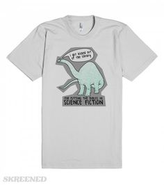 Dinosaurs arent Christians | This dinosaur had a bad experience at the library. He got kicked out because he put all the bibles in the science fiction book area. Just goes to show you that dinosaurs, in their time, were atheists.  #Skreened