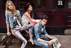 Cara Delevingne, Mia Goth and Jeremy Young for Pepe Jeans London 2013 Spring Summer Ad Campaign