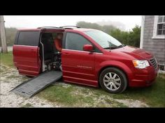Ross' wheelchair accessible minivan demo and Permobil Permolock - YouTube