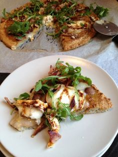 Rhubarb-chipotle-goat cheese pizza