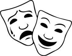 comedy and tragedy masks free clip art taller de teatro campo de rh pinterest com theater masks comedy tragedy clipart theater masks comedy tragedy clipart