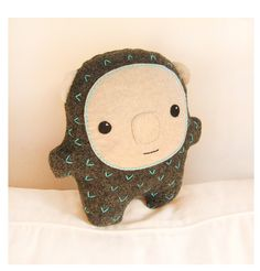 """This adorable creature is called Bambak. He comes from Europe and he is fully huggable.    He is handmade from grey ecofriendly felt and firmly stuffed with hypoallergenic fill. He is approximately 8,5"""" high and 8,5"""" wide."""