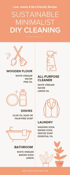 Get tips on how to declutter, organize, and clean in an eco-friendly and sustainable way. Receive insights on Minimalist apartment cleaning routine and Minimalist lifestyle. Tips Laundry Sustainable Minimalist DIY Cleaning Eco Friendly Cleaning Products, Natural Cleaning Products, Household Cleaning Tips, Cleaning Hacks, Household Cleaners, Cleaning Recipes, Cleaning Supplies, Cleaning Routines, Cleaning Checklist
