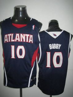 e8000048f Hawks  10 Mike Bibby Embroidered Blue NBA Jersey! Only  20.50USD Mike Bibby