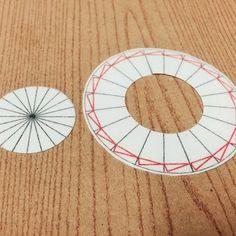 ホッチキスを使うリボンロゼットの作り方(シングルプリーツ)① 台紙編【改良版】