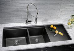 #Granite Alternative: Granite composite sinks are about 80 percent granite and 20 percent acrylic resin.