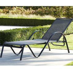 Bain de soleil en aluminium et textilène SUNSET - Maison Facile : ww.maison-facile.com