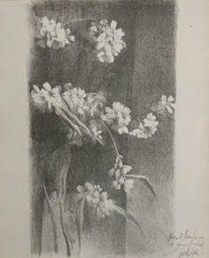 Pedro Cano. Flores En Negro