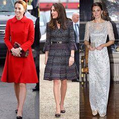 @Katemiddleton esteve em Paris no final de semana ao lado do seu marido o príncipe William! O casal visitou a capital francesa para uma série de eventos sociais e beneficentes. A duquesa escolheu 3 looks: um sobretudo vermelho da @houseofherrera; casaco e acessórios @chanelofficial; e um vestido com bordados de @jennypackham. Qual o seu favorito? via HARPER'S BAZAAR BRAZIL MAGAZINE OFFICIAL INSTAGRAM - Fashion Campaigns Haute Couture Advertising Editorial Photography Magazine Cover Designs…