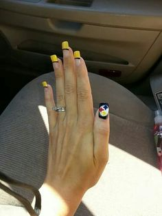 30 super bowl nail art ideas that are major wins bowls 30th and steeler nails prinsesfo Choice Image