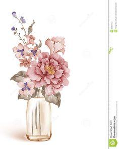 watercolor-illustration-flower-set-simple-white-background-50837512.jpg (1035×1300)