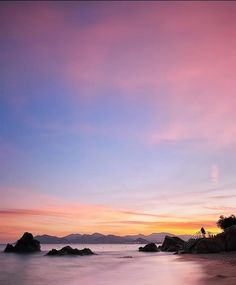 Colourful Sunset at Esterel Mountains, Cannes, France (French Riviera)