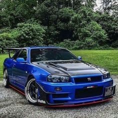 Nissan Skyline GT-R The fastest cars. Sports cars are created to go fast. With a very cool and nice body design. Like this car. Skyline Gtr R34, Nissan Skyline Gt R, Nissan Gtr R34, Nissan Juke, Gtr R35, Dream Cars, Bmw Autos, Tuner Cars, Jdm Cars