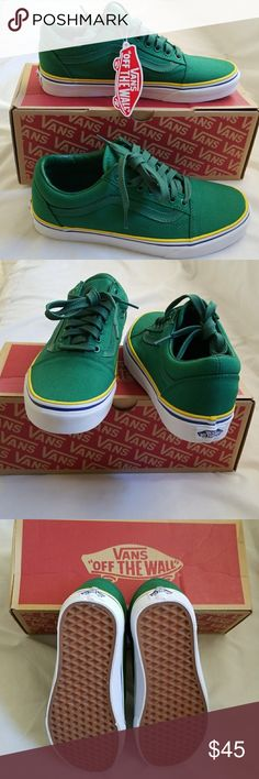 NWT Vans Super Cool Sneakers Unisex New Vans super cool sneakers. Gorgeous green with side leather trim. Cushy foot bed for added comfort.  M=7.5 W=9 Vans Shoes Sneakers