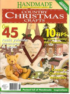 Vol 26 no. 2. Handmade country Christmas crafts collector's edition.  Christmas decorations and crafts