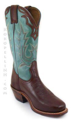 Boulet Turquoise Cowboy Boots (5109)