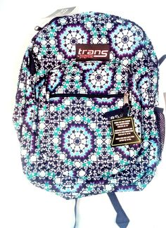 9a91641415 Jansport Trans Backpack Supermax Navy Moonshine Moroccan Design #JanSport  #Backpack