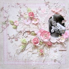 Days to Remember- Keren Tamir using Vintage Spring with a CW cherry blossom stencil