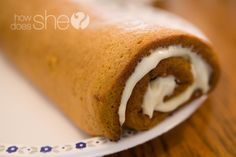 The Best Pumpkin Roll Recipe I've Ever Had!! #pumpkin #treats #howdoesshe