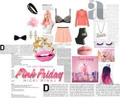 """Totally Fearless with Pink Friday Nicki Minaj"" by thejadejamboree on Polyvore"