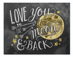 Love You to the Moon & Back Color - Print #Children #Love #Nursery
