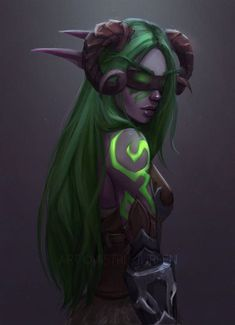 Night Elf Demon Hunter World of Warcraft Art Board ^^ // Blizzard // wow // // Digital // Geek // Fantasy Women, Dark Fantasy Art, Fantasy Girl, Fantasy Artwork, Final Fantasy, Art Warcraft, World Of Warcraft 3, Warcraft Legion, Fantasy Character Design