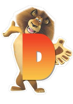 Lion letter D letter