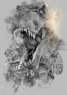 Jurassic Park - Photo illustrationsAll is made with a mixture of Photography, Photoshop, and Digital illustration with a Wacom tablet. Copyrights: Jurassic Park, Universal TM To avoid con… Jurassic Park Tattoo, T Rex Jurassic Park, Jurassic Park Trilogy, Jurassic Park Poster, Jurassic Park World, Dinosaur Movie, Dinosaur Posters, Dinosaur Art, The Animals