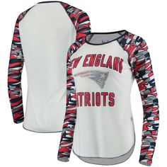9d742825 Women's New England Patriots Touch by Alyssa Milano White NFLxFIT Quicksnap  Draft Pick Long Sleeve T-Shirt