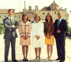 The Spanish Royal family currently consists of King Juan Carlos, Queen Sofia, a son Felipe and daughters Elena and Cristina.