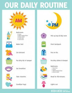 Daily Routine for Kids- Visual: How to Help Your Child Become More Organised in 3 Simple Steps