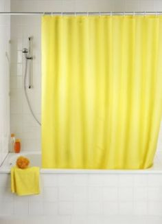 10 Yellow Shower Curtain Designs 10 Yellow Shower Curtain Designs The post 10 Yellow Shower Curtain Designs appeared first on Wohnaccessoires. Ombre Shower Curtain, Yellow Shower Curtains, Extra Long Shower Curtain, Long Shower Curtains, Bathroom Shower Curtains, Shower Tub, Cleaning Shower Tiles, Bathroom Floor Tiles, Bathroom Colors