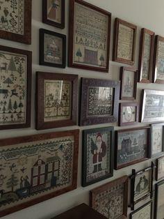 Sampler Wall